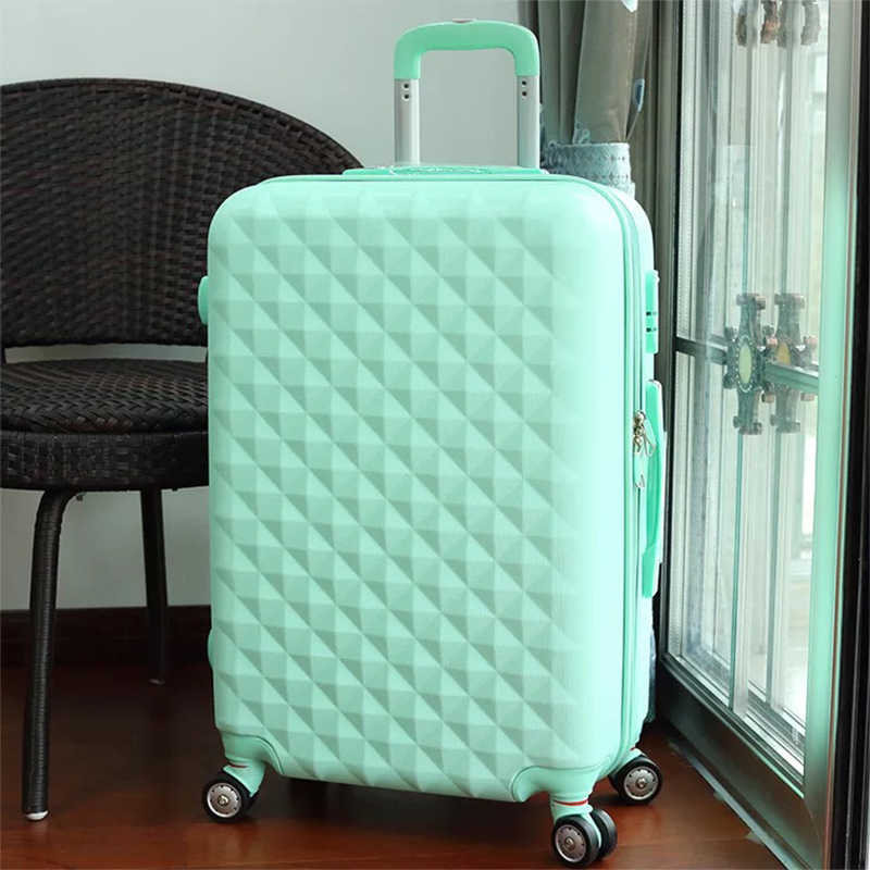7a21ea9de ... Girls cute trolley luggage set ABS hardside cheap travel suitcase bag  on wheels women spinner rolling ...