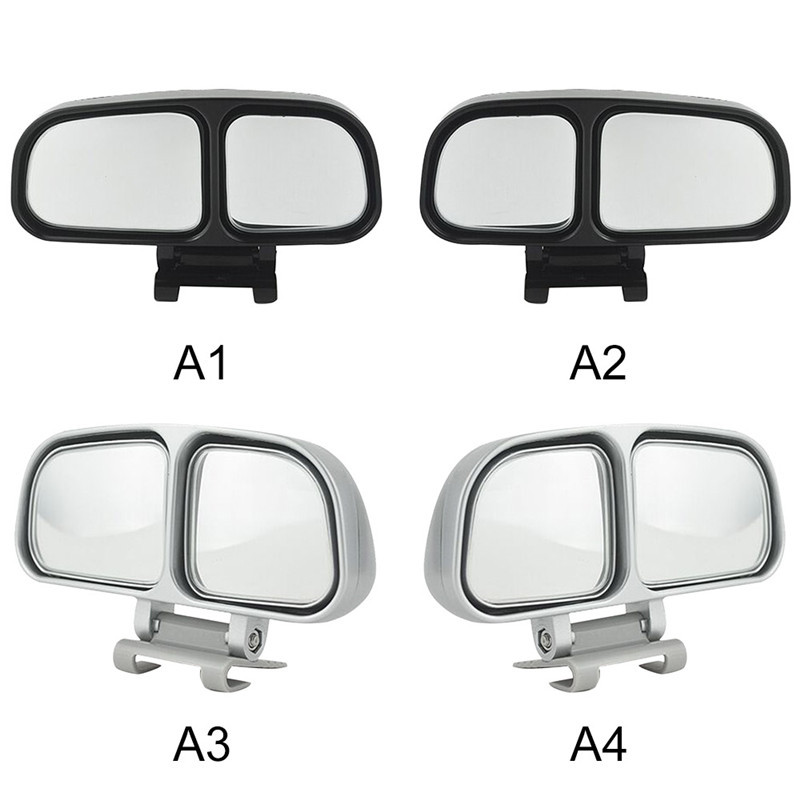 1piece Universal 3R Blind Spot Square Mirror Auto Wide Angle Side Rear view Mirror Car Double Black White