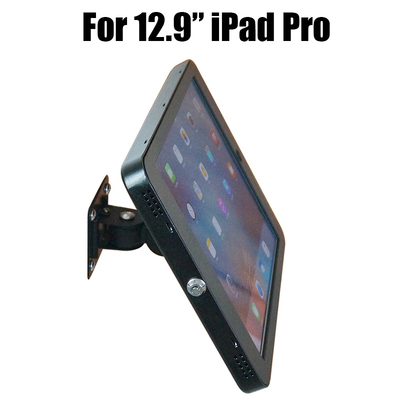 Tablet wall mount Ipad security lock display stand bracket kiosk antitheft case Ipad pro housing for 12.9 inch Ipad pro tablet stand kiosk mount floor stand for most 10 1 12 9tablet holder security with lock stand for samsung asus surface pro acer