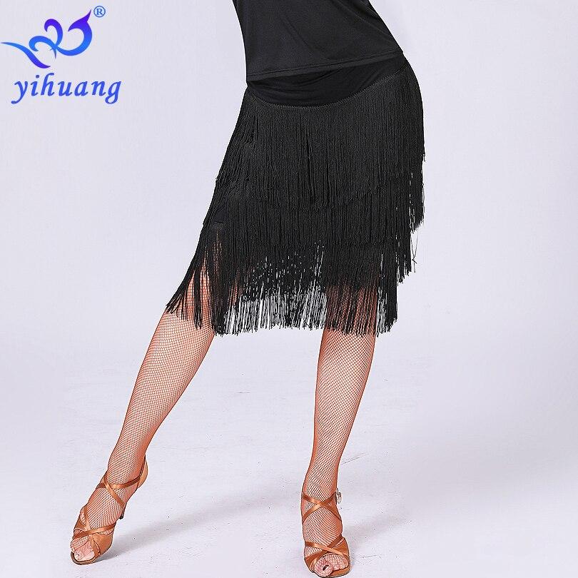 Image 3 - 2019 desempenho feminino dança vestir saia latina saia borla franja salão de baile jazz salsa cha tango charleston dança saiaLatino   -