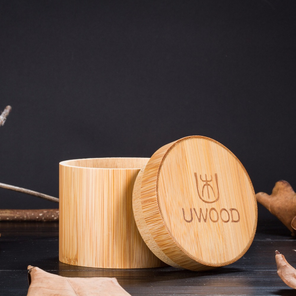 Natural Handmade Wooden Watch Band UWOOD Uw1001 Extend The Band, Luxury Bamboo Wooden Gift Box For Watch Packag
