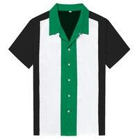 2018 새로운 여름 세 컬러 접합 남성 셔츠 캐주얼 95% 면 탑 턴 다운 칼라 짧은 소매 남성 블라우스 슬림 남성