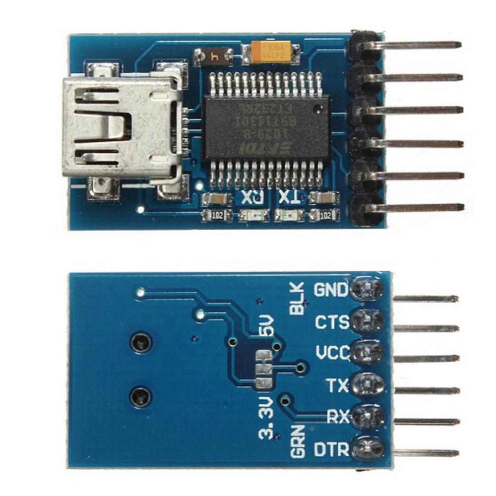 FT232RL USB to Serial Adapter Module Mini USB TO TTL Serial Adapter Module 3.3V 5.5V For Arduino Pro Mini