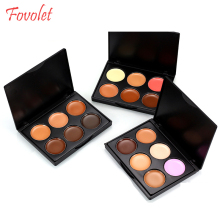 Fovolet 6 color face new concealer palette makeup for women cosmetic make up