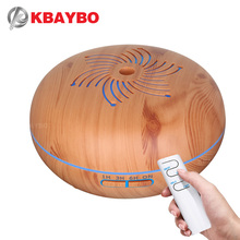 KBAYBO 550ml Remote Control Ultrasonic Humidifier With 7 Color LED Lights Electric Aromatherapy Essential Oil Aroma Diffuser