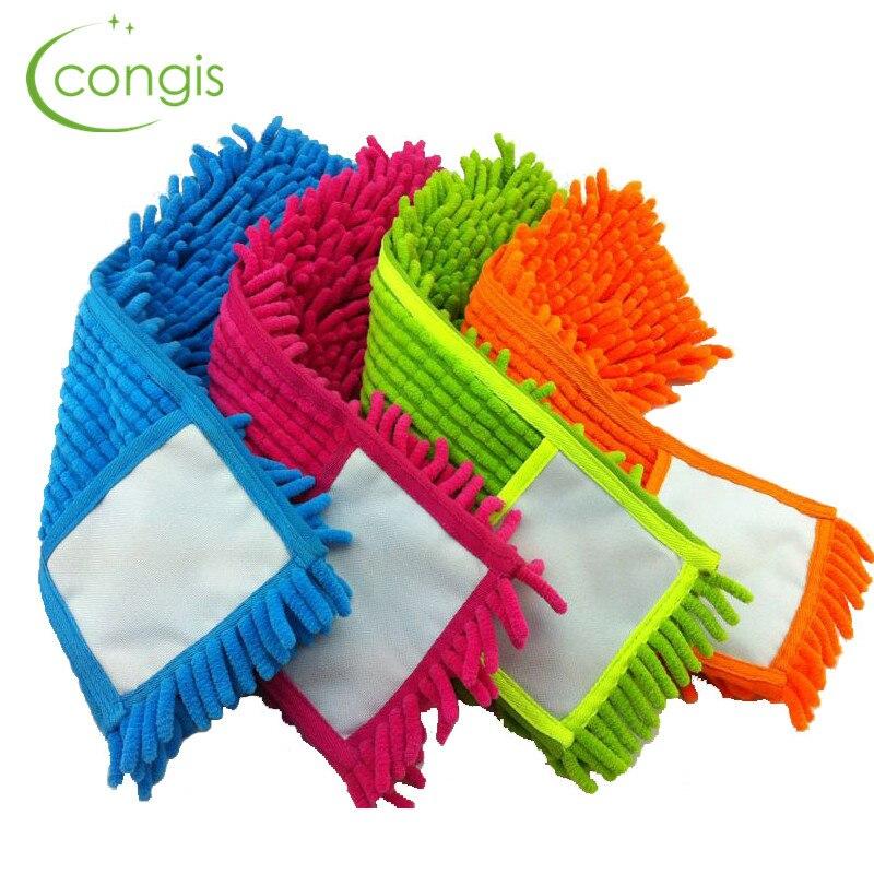 Congis 4 шт./компл. 4 вида цветов синель швабры заменить ткани, плоская Швабра швабры заменить ткань чистый пол СС Интимные аксессуары