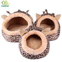 Zachte Warme Hond Huis Luipaard Pet Slaapzak Huis voor Kleine Medium Dog Katten Dierbenodigdheden S/M/L Kat Producten