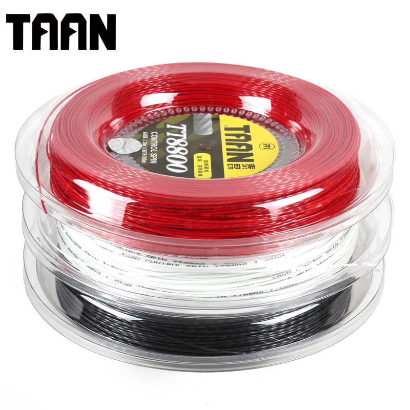 1 Grande Bobine TAAN TT8800 Raquette De Tennis Commande Chaîne Spin Twist Puissance durable 1.20mm Polyester Chaîne De Tennis