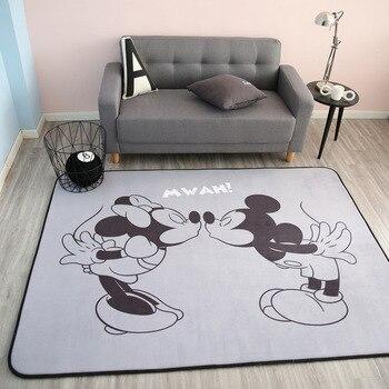 75cbc7e43 Disney Mickey Mouse Mickey Minnie alfombra bebé niño arrastrándose juego  Alfombra de lana de Coral alfombra de bienvenida de cuatro temporada Mat de  regalo