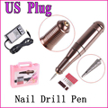 Electric Nail Drill Glazing Pen Machine Set Kit Manicure File Tool & Accessory(US Plug), Free Shipping