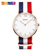 Amantes skmei reloj de cuarzo relojes de lujo hombres mujeres moda casual 30 m impermeable simple diseño ultra-delgado relojes de pulsera 1181