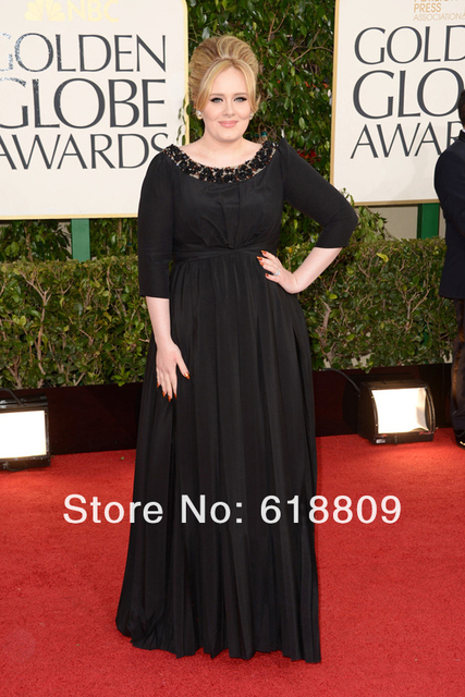 Celebrity Dresses Evening gowns Adele Dresses Red Carpet Gowns Round ...