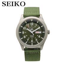SEIKO Watch tarcza 5 klasyczny brezentowy pasek zegarek automatyczny mechaniczny zegarek business casual mężczyzna forma SNZG09K1