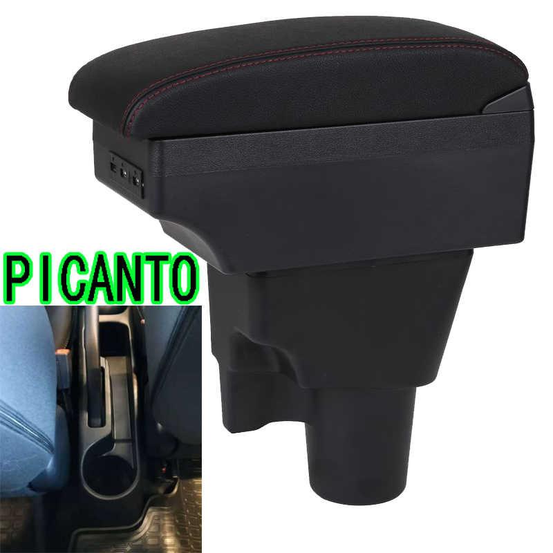 Para caja de reposabrazos Kia Picanto contenido de la tienda central caja de reposabrazos Picanto con soporte de taza Cenicero con interfaz USB