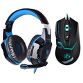 6 Button 3200DPI USB Wired Pro Gaming Mouse Optical Gamer Mouse Mice+EACH G2000 Hifi Pro Gaming Headphone Game Headset