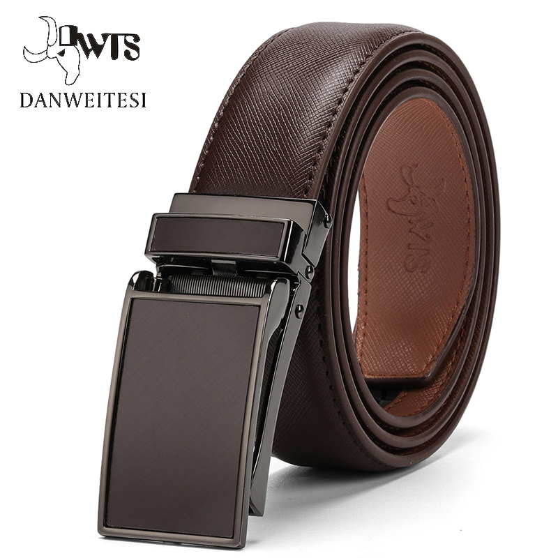[DWTS]  Belt   Male Men's   belt   Genuine Leather Strap luxury brand Automatic Buckle   Belts   For Men   Belts   Cummerbunds cinturon hombre