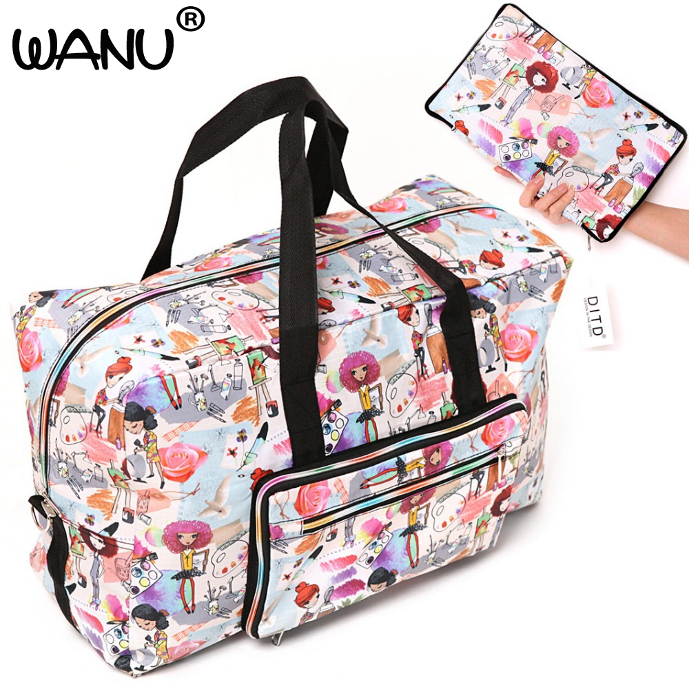 Large Capacity Bags Waterproof Folding Bag Function Travel Handbags Shoulder Bag Women Luggage Bags Fashion Hot Sale