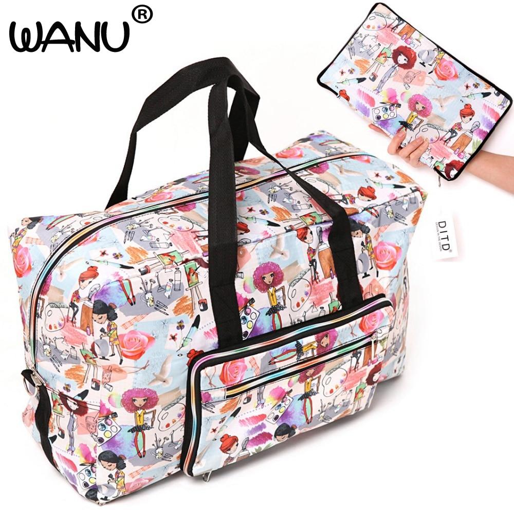 Large Capacity Bags Waterproof Folding Bag Function Travel Handbags Shoulder Bag Women Luggage Bags Fashion Hot Sale