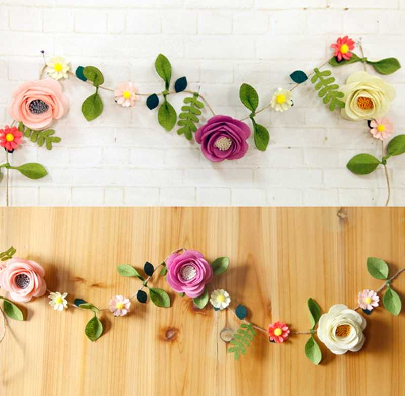 Swell Felt Fabric Bedroom Decoration Artificial Flowers Rattan Felt Diy Package Fake Flowers Decoration For Living Room Bedroom Home Remodeling Inspirations Cosmcuboardxyz