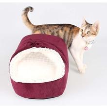 Venxuis Zima Teplá Měkká dětská postýlka Malé mléko Pet kočka Hnízdo Měkké bavlněné novorozené kočky Spací pytel Drop Shipping