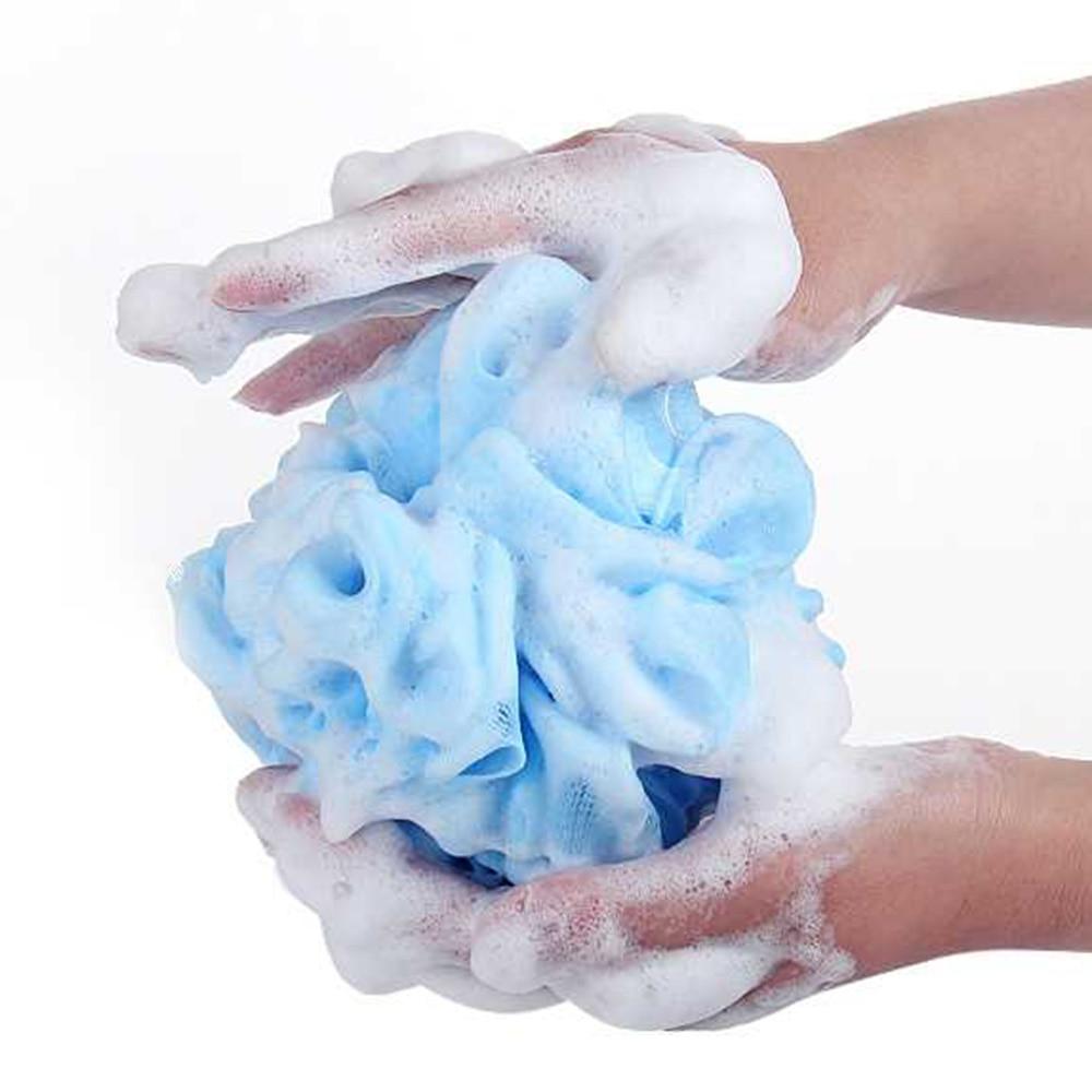 2/10Pcs/Lot Bath Flower Mesh Bath Washing Body Wisp Tool Accessory Candy Color Body Wash Bath Ball Large Bath Sponge