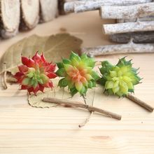 Christmas Simulation Succulents artificial flowers ornaments mini green Artificial Plants garden decoration