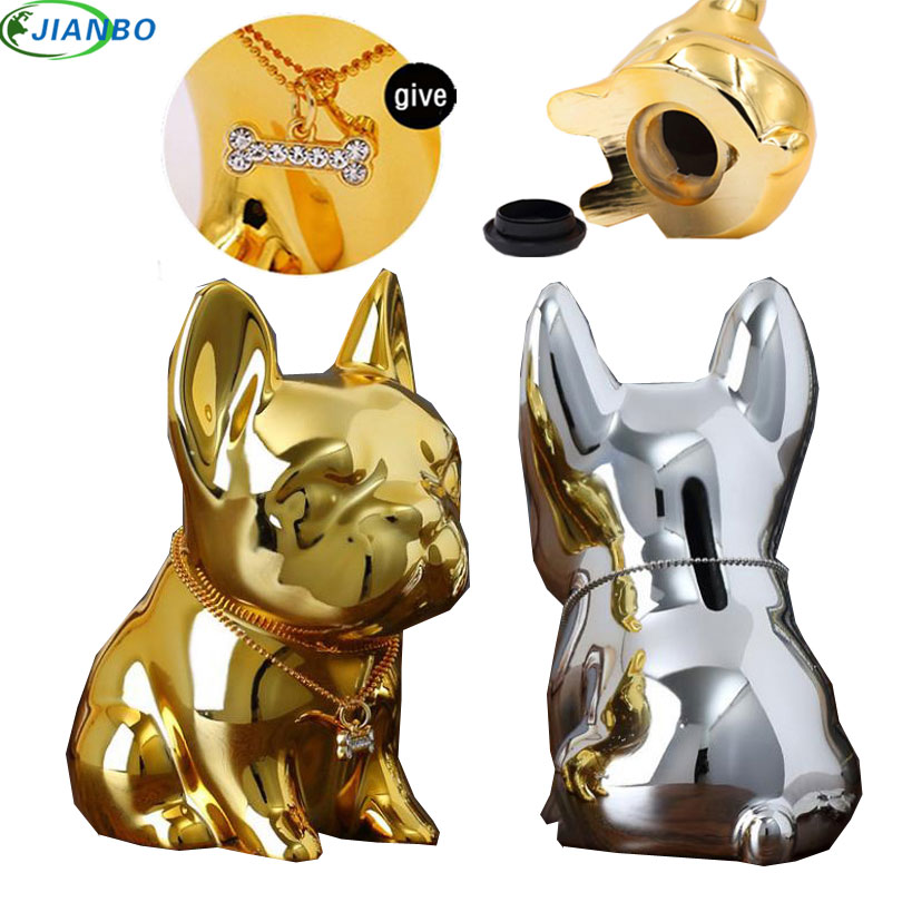 Hidden Secret Security Safe Box Creative Piggy Bank Bulldog Resin Decoration Large Coin Money Box Cute Puppy Home For Kid Gift