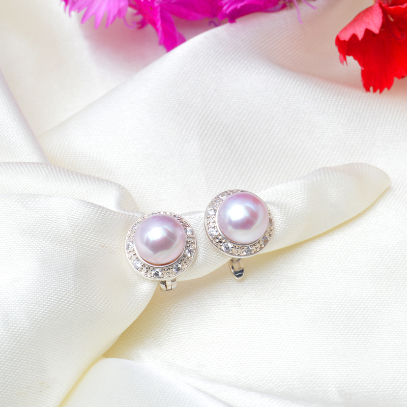 ASHIQI ekte naturlig ferskvann perle stud øredobber for kvinner - Fine smykker - Bilde 4