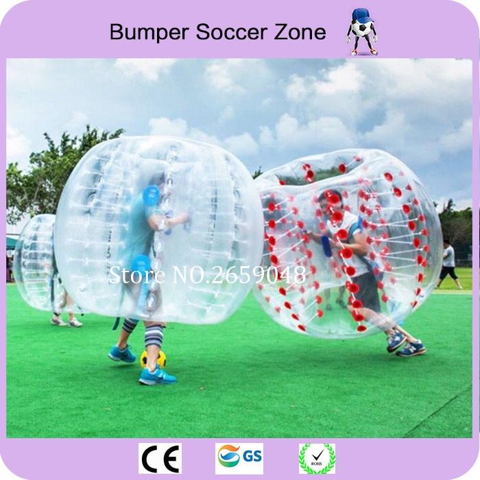 Transport gratuit de 1.0mm PVC 1.5m Bubble gonflabile Bubble Soccer Ball Bubble Fotbal Bumper Gonflabile Omului Hamster Ball Zorb Ball