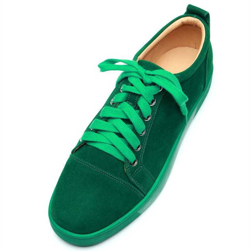 SHOOEGLE Plus Size39 47 Chaussures Hommes Men Green Suede Sneaker Lace up Flat Low Top Shoes Men Runway High Quality Shoes - 3