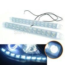 NUEVA Silicona flexible 2 * 12LED luces de Circulación Diurna de la Lámpara DRL de Conducción suave LED auto faro con lente