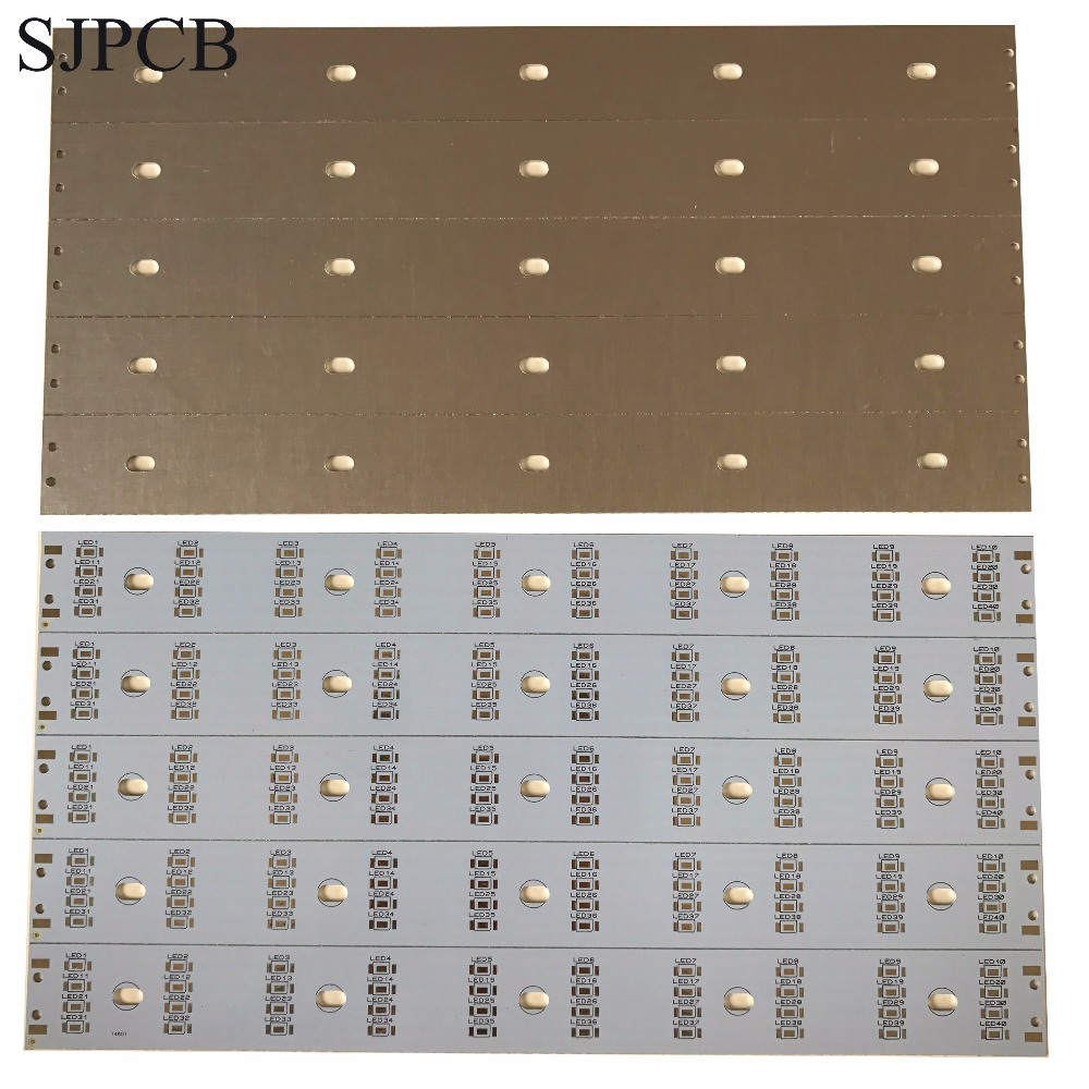 High Power 10mm 12mm Custom Led Aluminium Pcb Circuit Board T8 Oem Light Boardled Assembled Service Cerohs Approved Sjpcb White Aluminum Strip Metal In Panel At Competitive Price
