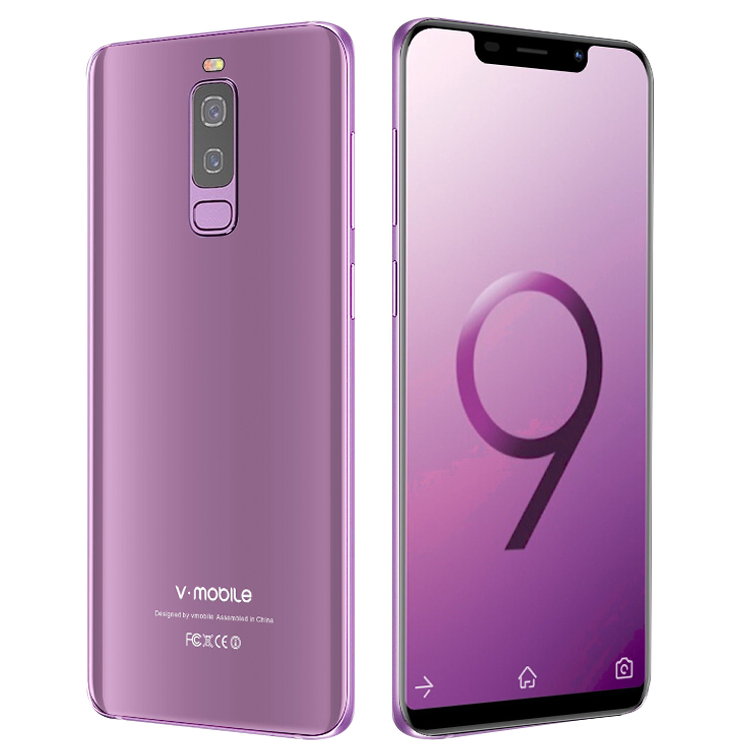 "TEENO VMobile S9 unlocked Cell Phone Android 7.0 5.84"" Full Screen 19:9 2GB RAM 16GB ROM Dual Sim Quad Core celular Smartphone"
