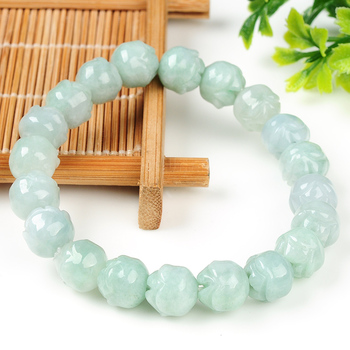 100% natural green jade lovers  bracelet