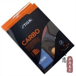 Originele stiga carbo 6 sterren tafeltennis racket pak voor offensieve indoor sport racquet sport stiga blad puistjes in