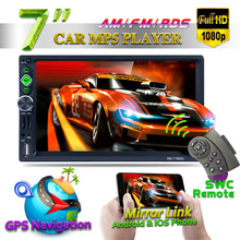 7160G GPS Navigator Bluetooth Car MP5 Player 7 Full HD 1080P AM FM RDS Radio Mirror