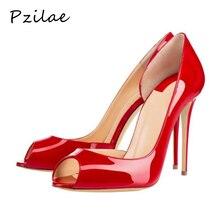 Pzilae/Летняя обувь г. Новые женские босоножки пикантные Свадебные Босоножки с открытым носком на высоком каблуке модные вечерние босоножки на высоком каблуке, Размеры 35-47