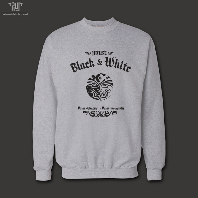 Game Of Thrones House Of Black And White Valar Morghulis Men Unisex Gsm Sweatershirt