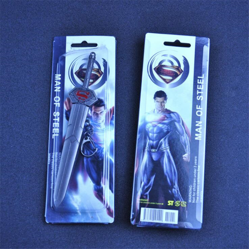 Costume Props Costumes & Accessories Superhero Movie Superman Cosplay Costume Props Sword Weapon Metal Toy Fancy Gift Key Chain