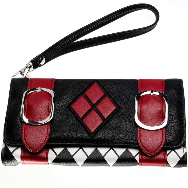 Suicide Squad Harley Quinn wallet DFT-2003 suicide squad harley quinn boots bota accessories black women for harley shoes harley quinn costume cosplay suicide squad
