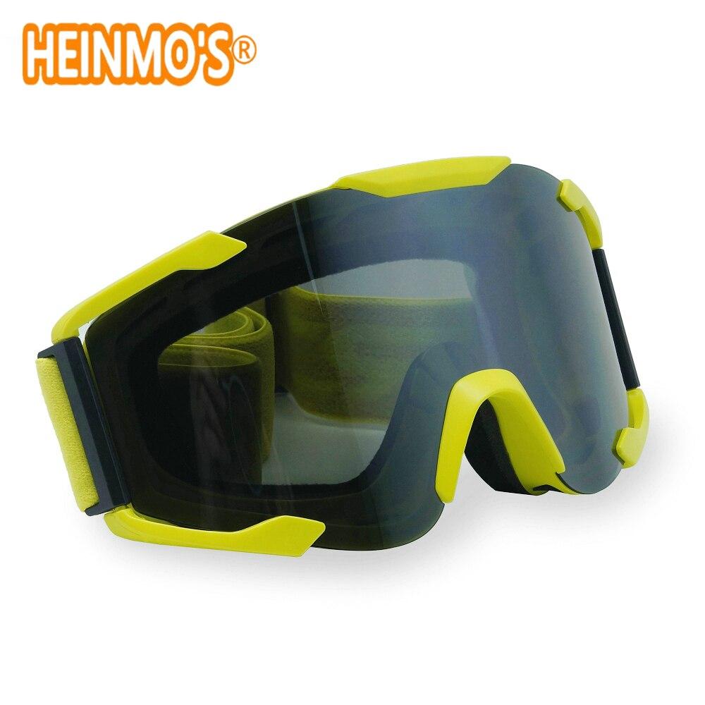 8573d0e4d891c VERDE Óculos de Proteção Da Motocicleta Óculos googles Motocross Moto Cross  Country Flexível Goggles WATERPRROF