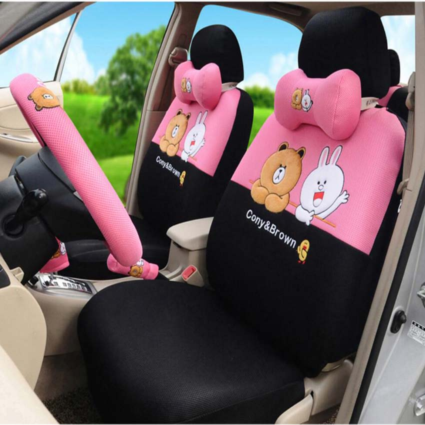 Cony and Brown car seat cover