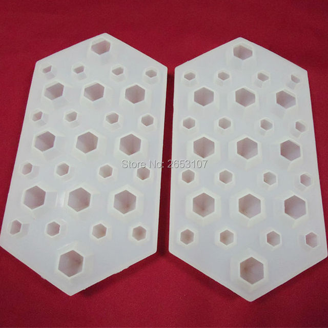 20pcs/lot free shipping 3D Silicone Diamond Cube Ice Tray Mold Chocolate Mould