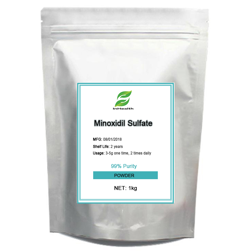 1KG Best quality 99% Purity Minoxidil Sulfate, Hair growth, Hair loss treatment 1bag 50g 100g 99% purity minoxidil loniten powder kitchen toy c9h15n5o white powder play dough hair growth hair loss treatment
