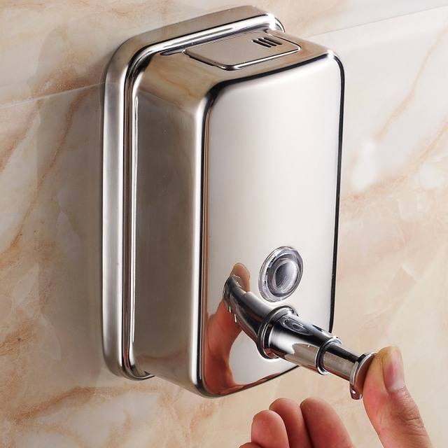 Wall Mounted High Quality Stainless Steel 1000ml Bathroom Toilet Hand Soap  Dispenser Liquid Soap Box