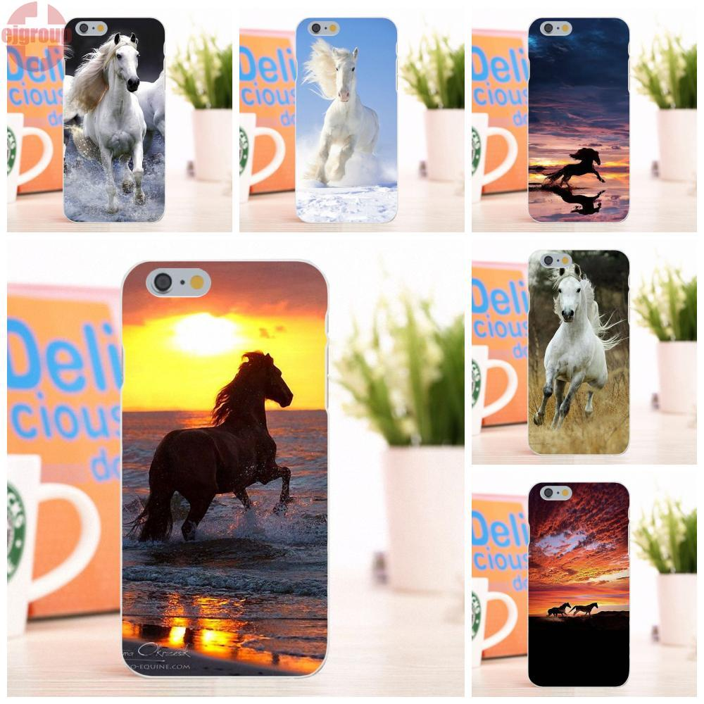 EJGROUP Wild Horses Running At Sunset Soft TPU Silicon Protective Case For Apple iPhone 6 6S 4.7 inch