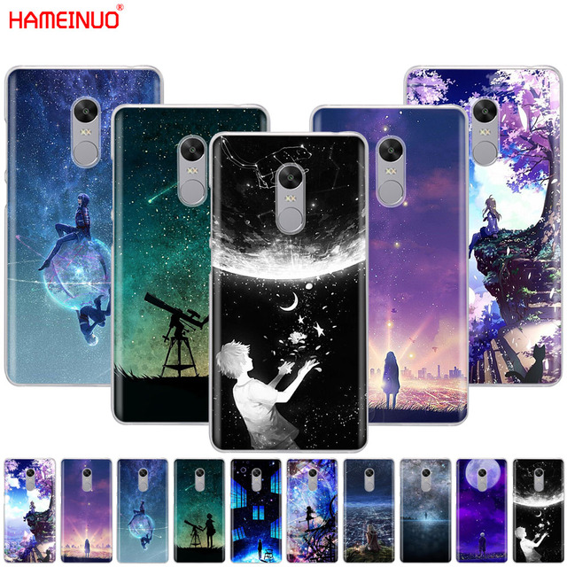 HAMEINUO Starry Day Anime Cover phone  Case for Xiaomi redmi 5 4 1 1s 2 3 3s pro PLUS redmi note 4 4X 4A 5A