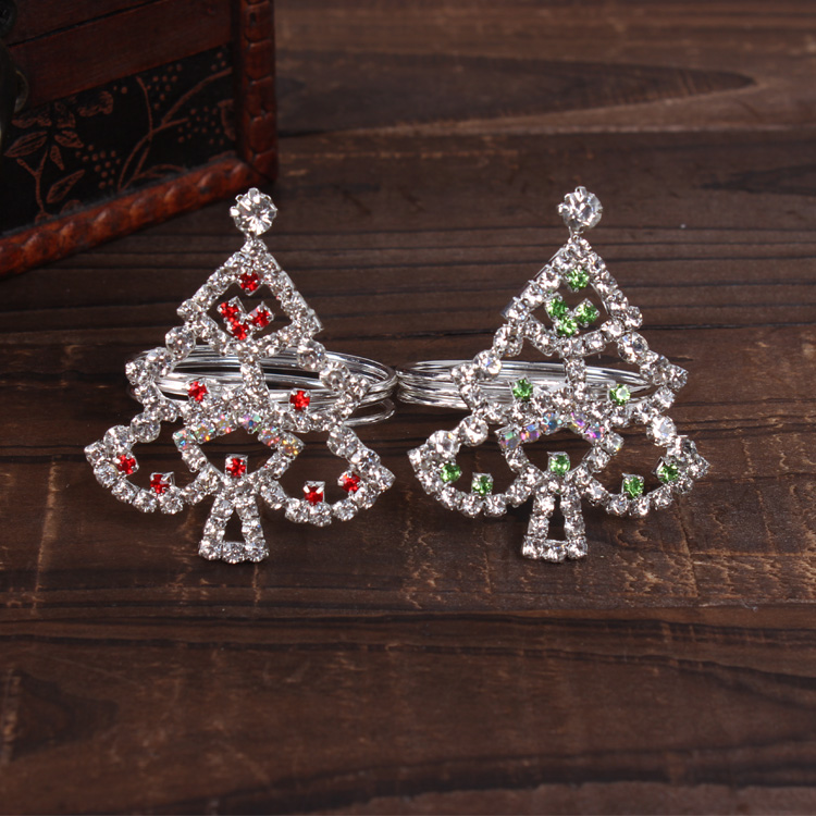 Christmas Tree Napkin Rings.Us 33 5 20 Off 12pcs Model Room Hotel Diamond Christmas Tree Napkin Ring Christmas Gifts Meal Deduction Hotel Restaurant Home Decoration In