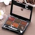 6 Colores de Maquillaje Sombra de Ojos Smokey Smoky Eyeshadow Shadding Paleta de Polvo Caliente