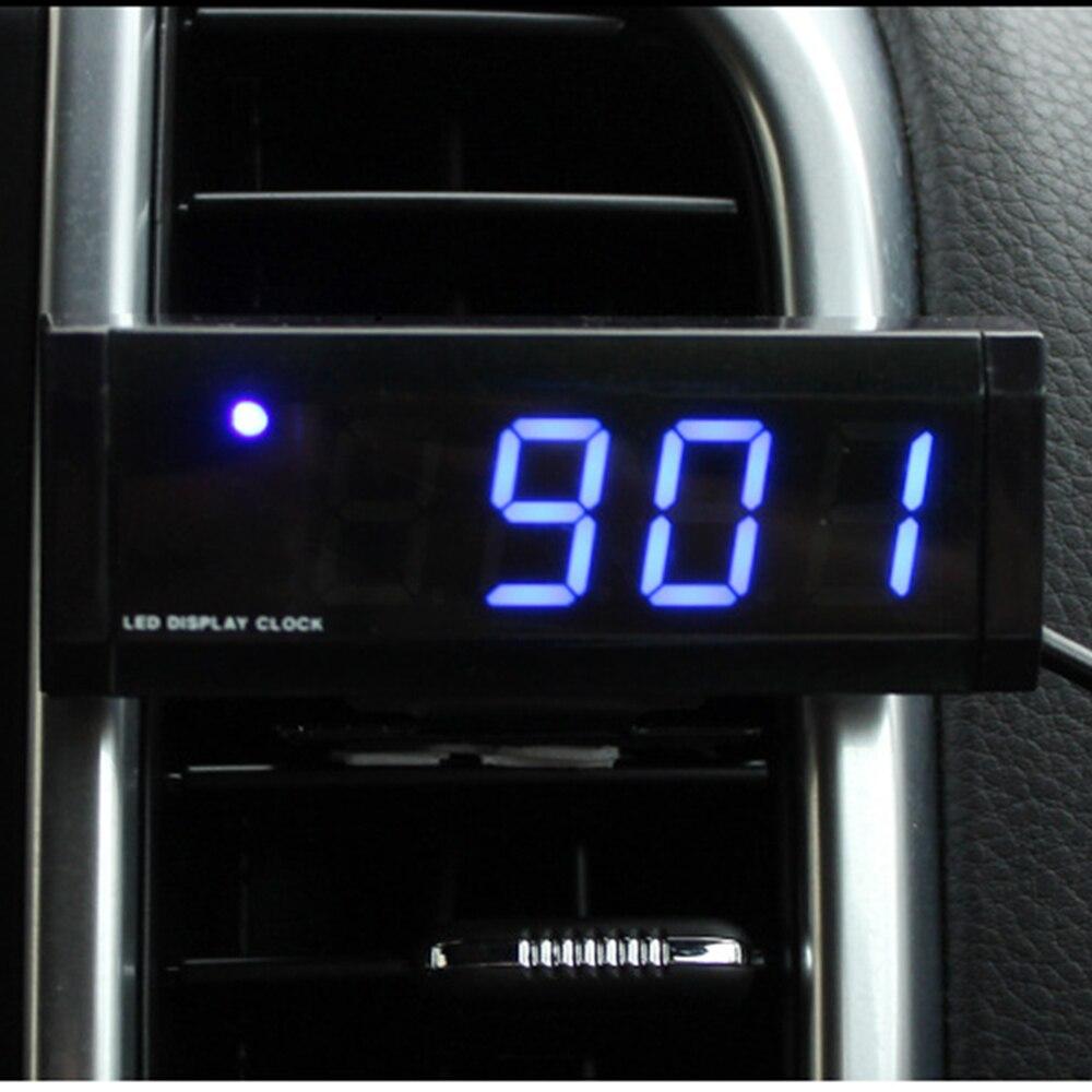 bbb19ee93c5c Adorno de coche reloj automotriz decoración automóvil salpicadero reloj  electrónico Digital pantalla adornos Accesorios - a.canijustsay.me